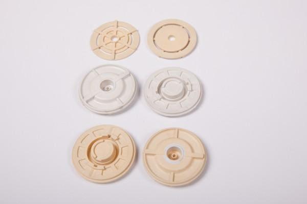 okrągłe nakrętki ztworzywa sztucznego